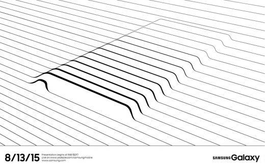 '갤럭시노트5' 삼성전자 언팩 초대장. /사진=삼성 투모로우 홈페이지