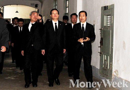 [MW사진] 서대문형무소 수감동 둘러보는 정의화 의장