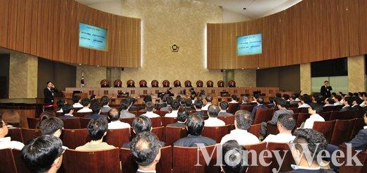 [MW사진] 한명숙 대법원 재판, '8대5'로 유죄 확정