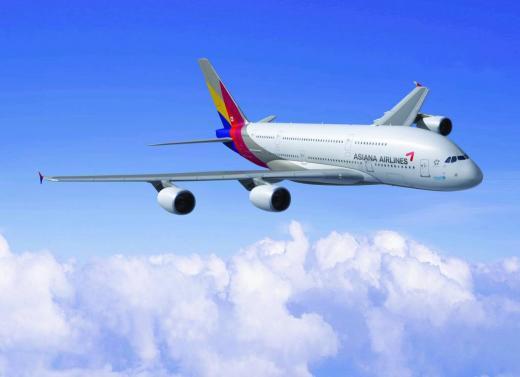 '아시아나 회항' 사진은 아시아나항공기 A380. /사진=아시아나항공 제공
