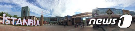 '실크로드 경주 2015' 문화센터 앞 광장. /사진=뉴스1