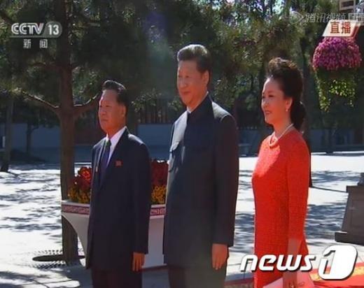'중국 열병식 박근혜' /사진=뉴스1(CCTV)