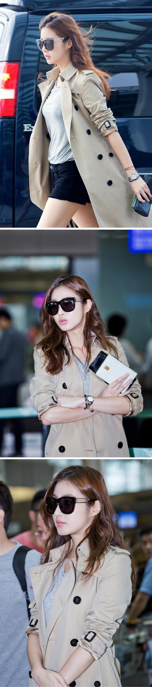 [★공항패션] 강소라, 편안한 복장에 선글라스로 패션지수 UP