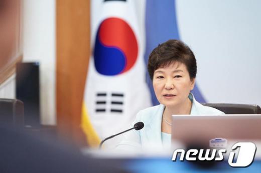 '요르단 국왕' 사진은 박근혜 대통령. /사진=뉴스1(청와대 제공)
