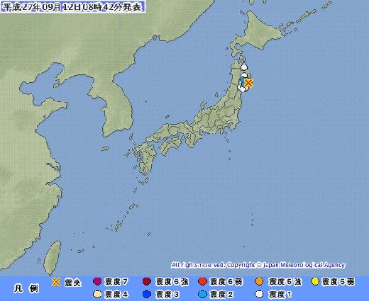 일본 지진. /사진=일본 기상청