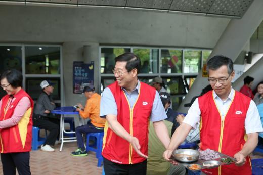 전남우정청, 추석맞이 사회복지시설 배식 봉사 활동