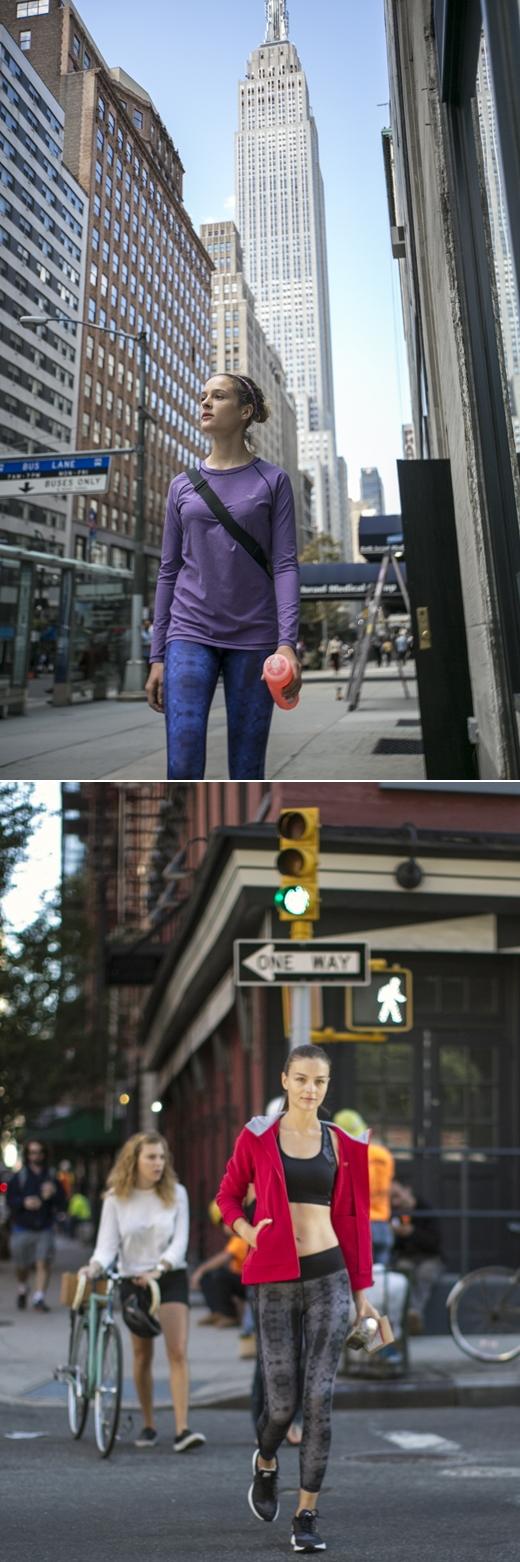 아레나, 뉴요커들의 '애슬레저룩' 공개