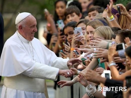 '교황 연설' /사진=뉴스1(로이터 제공)
