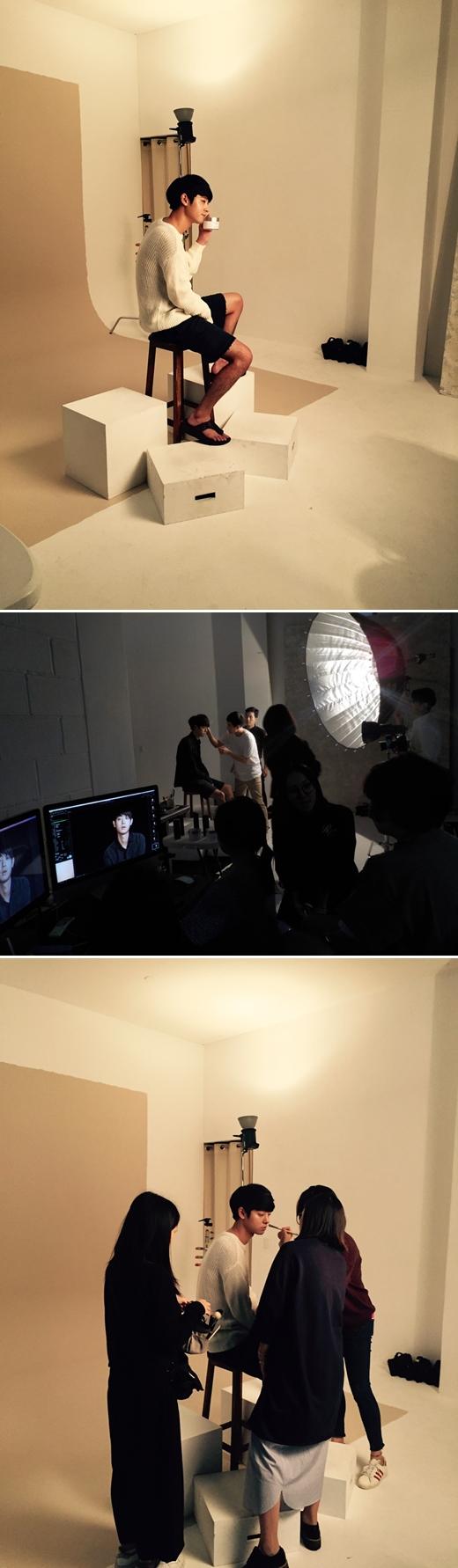 시에로 코스메틱, 정준영 광고 촬영 현장 공개