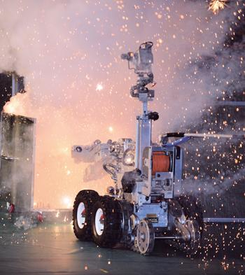 경찰특공대 폭발물 처리 로봇. /사진=뉴시스 류형근 기자