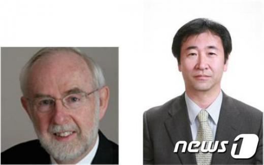 '2015 노벨상' 스웨덴 노벨상위원회는 6일(현지시간) 올해 노벨 물리학상 수상자로 가지타 다카아키(오른쪽)와 아서 B. 맥도널드 등 2명이 선정됐다고 발표했다. /사진=뉴스1