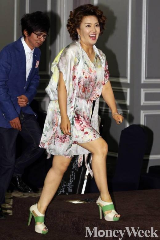 '불타는청춘' 기자간담회에 참석한 김혜선(사진=머니투데이 이정호 인턴기자)