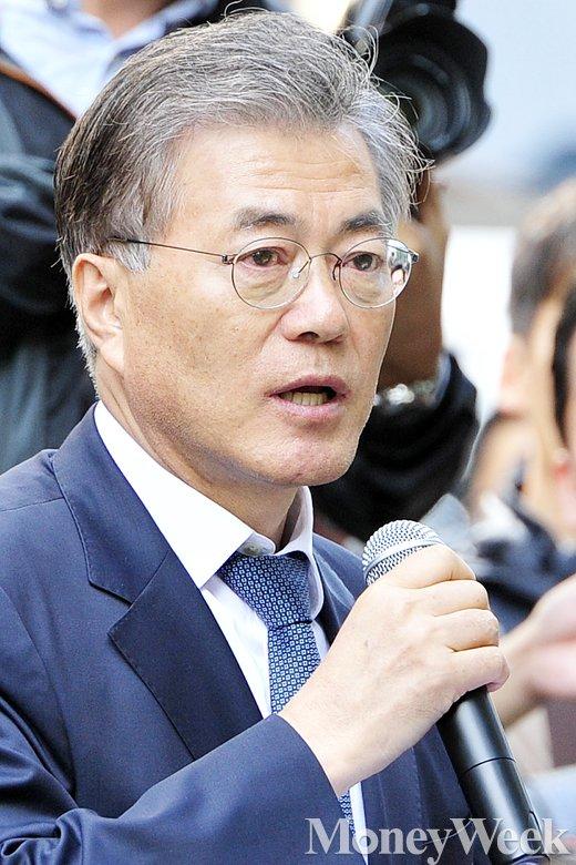 [MW사진] 문재인 대표, 수요집회서 국정화 교과서 반대 호소