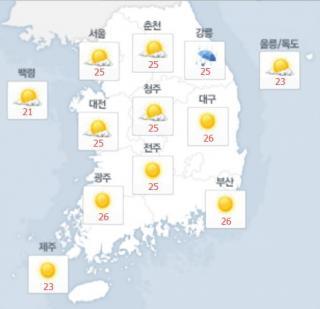18일 오후 최고기온. /사진=네이버 날씨 캡처