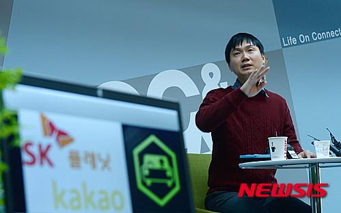 박종환 록앤올 공동대표가 SK플래닛 T맵의 DB를 무단사용했다는 주장에 대해 반박하고 있다. /사진=뉴시스