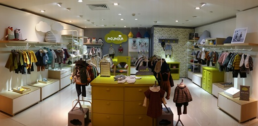 중국 무석 상예따사 백화점에 입점한 모이몰른 매장. /사진=모이몰른