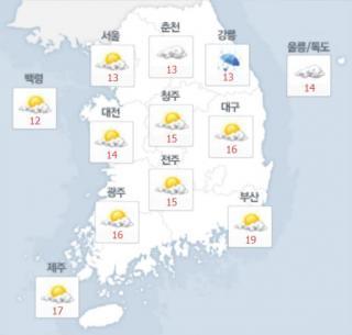 9일 오후 날씨. /사진=네이버 날씨 캡처