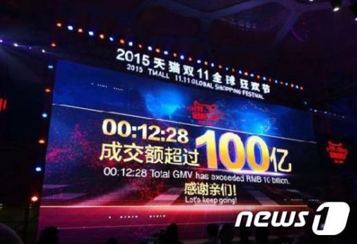 11일 중국판 블랙프라이데이인 광군제 시작 12분28초만에 알리바바 매출은 100억위안을 돌파했다. /자료사진=뉴스1(시나닷컴 제공)