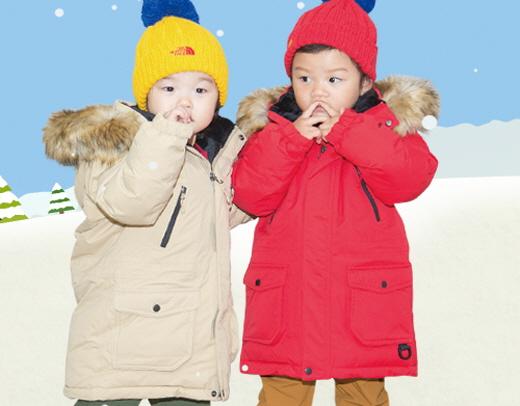 이동국 가족 둘째 쌍둥이 설아·수아의 노스페이스 키즈 '맥머도 15 다운 파카' 착용컷. /사진제공=노스페이스