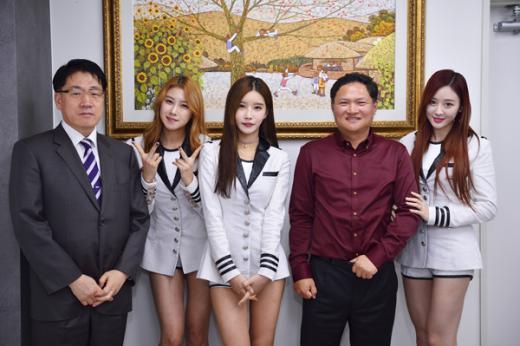 """걸그룹 포켓걸스, 엘에스화장품 모델 발탁…""""건강한 피부녀"""""""