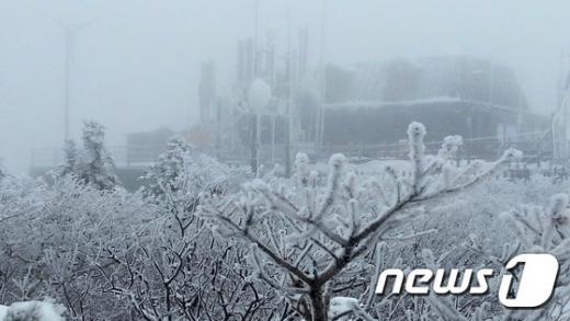 지난 23일 강원 설악산 중청봉 일대에 눈꽃이 장관을 이뤄 설경이 눈 앞에 펼쳐지고 있다. /자료사진=뉴스1DB