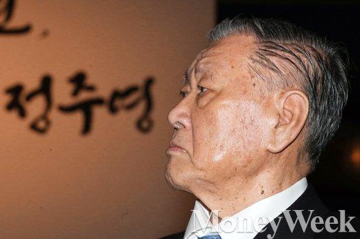 [MW사진] 정몽구 현대차그룹 회장, '그가 회상하는 부친 정주영'