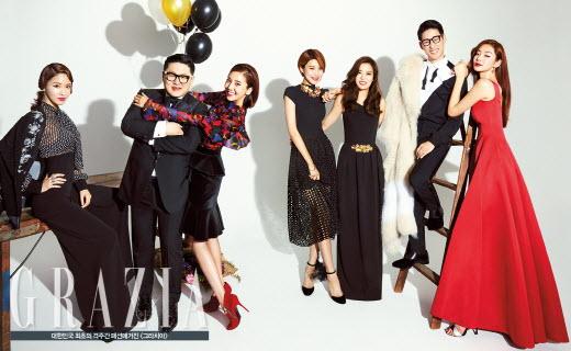 '스타그램' 출연진, 손담비·정윤기·장도연·스테파니 리 화보