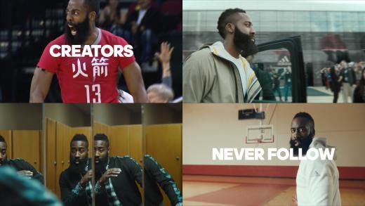 """[영상]NBA 제임스 하든. """"크리에이터는 누구도 따르지 않는다"""""""