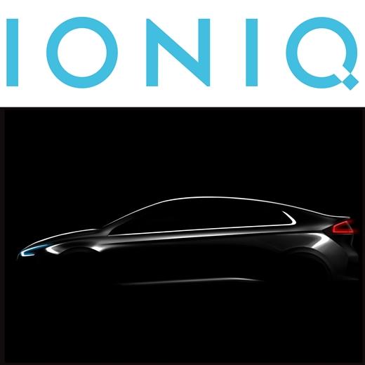 아이오닉 로고(위)와 차량 이미지. /사진=현대자동차 제공