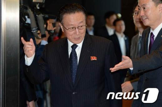 북한 김양건 대남비서 겸 통일전선부장. /사진=뉴스1 (공동취재단 제공)