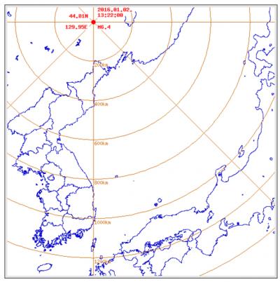 2일 오후 중국 헤이룽장성에서 규모 6.4의 지진이 발생했다. /자료=기상청