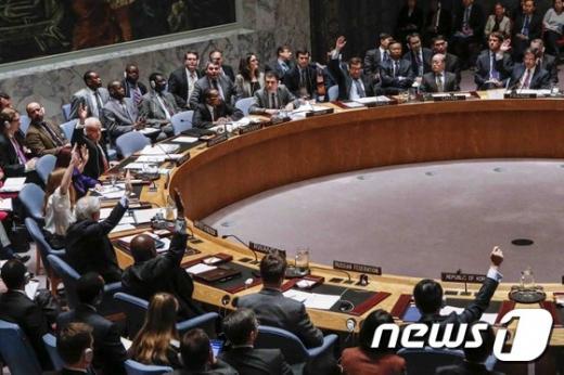 유엔 안전보장이사회. /사진=뉴스1(AFP 제공)