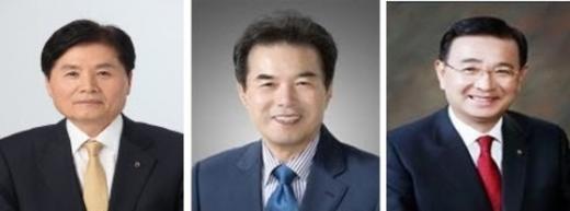 사진설명=좌측부터 김병원, 이성희, 최덕규 후보