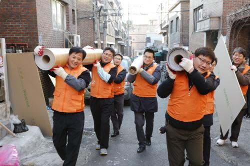 한화 신임 임원들의 '따뜻한' 신고식