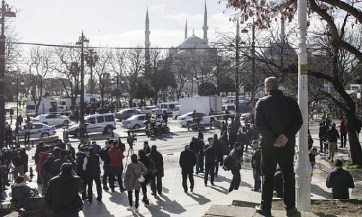 터키 이스탄불의 유명 관광지역에서 12일(현지시간) 자폭테러가 발생했다. /사진=뉴스1