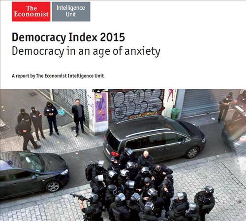 '이코노미스트 인텔리전스 유닛'이 발표한 '2015 민주주의 지수' /사진=이코노미스트 인텔리전스 유닛