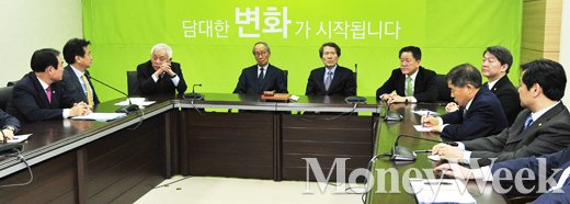 [MW사진] 국민의당 기조회의, 한자리에 모인 신당 지도부