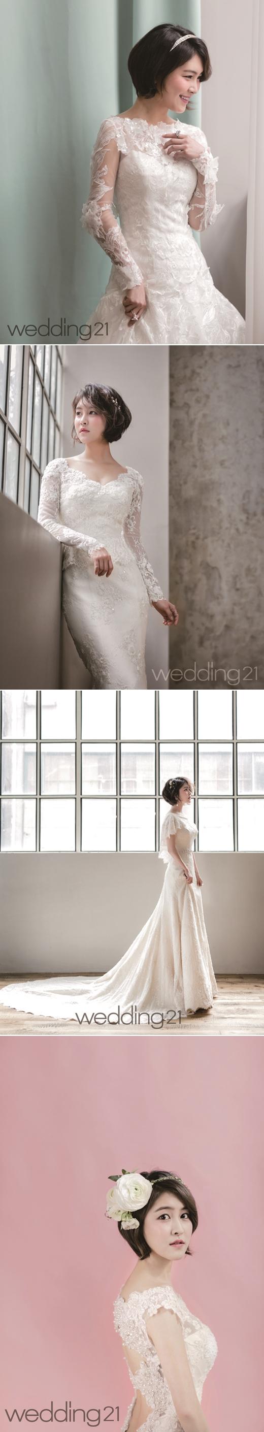 '치인트' 박민지, 봄의 신부로 변신…웨딩화보 공개