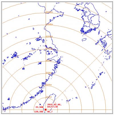 6일 오전 3시57분쯤(현지시간) 대만 타이난 동남쪽 31km 지점에서 규모 6.7의 지진이 발생했다. /자료=기상청