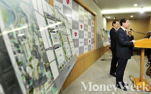[MW사진] GBC 부지 관련 회견, 서울시-현대차와 손잡다