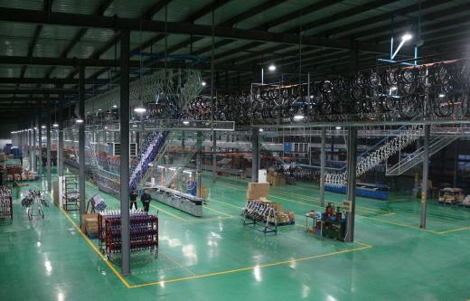 개선된 알톤스포츠 중국 톈진 생산기지. /사진제공=알톤스포츠