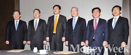 [MW사진] 한자리에 모인 주형환 장관과 경제단체장들