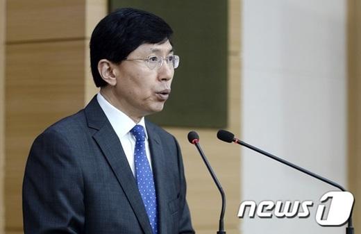조준혁 외교부 대변인이 지난 17일 정례브리핑에서 일본 고교교과서 검정 결과에 대해 언급하고 있다. /사진=뉴스1