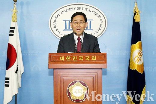 [MW사진] 기자회견 개최한 주호영 의원