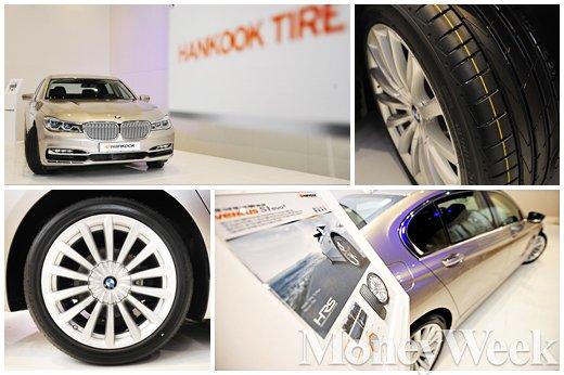 ▲ BMW 뉴 7시리즈에 공급되는 초고성능 타이어 '벤투스 S1 에보2 런플랫'