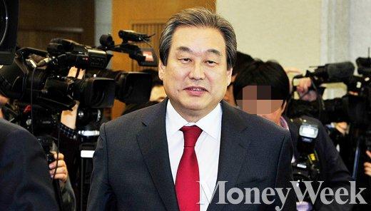 [MW사진] 관훈토론회 참석한 새누리당 김무성 대표