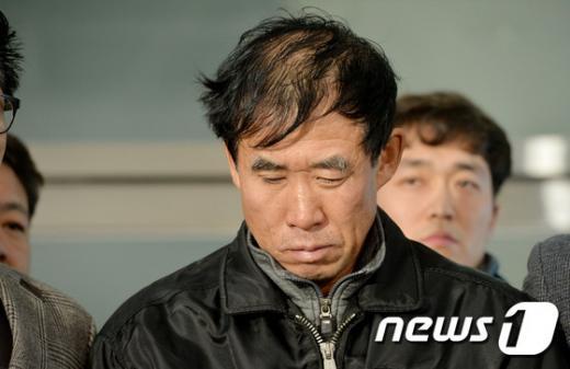 지난 2014년 12월 수원서부경찰서를 나서고 있는 '팔달 토막살인' 용의자 박춘풍. /사진=뉴스1
