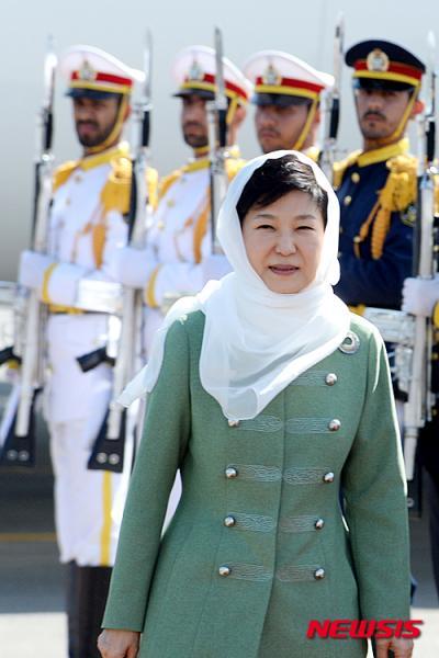 이란을 국빈방문 중인 박근혜 대통령. /자료사진=뉴시스