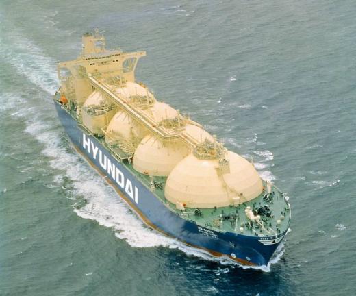 현대상선 친환경 LNG선 '그린피아'호 /사진=현대그룹 제공