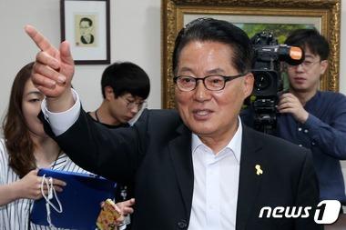 박지원 원내대표가 개헌 필요성을 언급했다. /자료사진=뉴스1